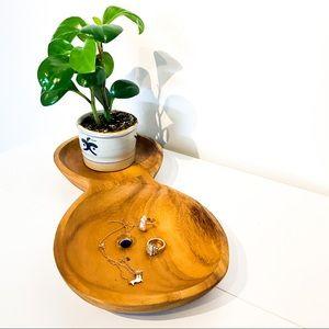 VINTAGE Walnut Jewelry Tray